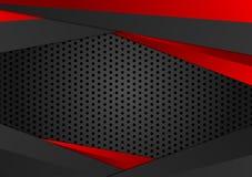 Wektorowa czerwień i czerń barwimy geometrycznego tło Abstrakcjonistyczna tekstura z odbitkowym astronautycznym projektem dla twó Obrazy Stock