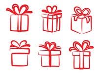 Wektorowa czerwona prezent ikona ilustracja wektor