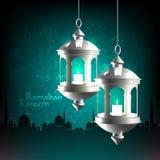 Wektorowa 3D Muzułmańska Nafciana lampa Zdjęcia Stock