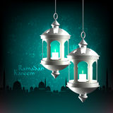 Wektorowa 3D Muzułmańska Nafciana lampa ilustracji