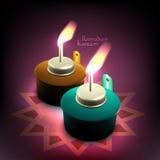 Wektorowa 3D Muzułmańska Nafciana lampa - Pelita ilustracji