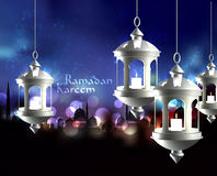Wektorowa 3D Muzułmańska Nafciana lampa Przekład: Obraz Stock