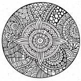 Wektorowa dekoracyjna ręka rysujący okrąg Obrazy Royalty Free