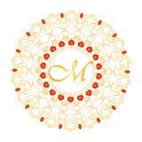 Wektorowa dekoracyjna rama w orientalnym stylu Fotografia Royalty Free