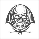Wektorowa demon czaszka Obrazy Stock