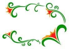 Wektorowa doodle kwiatów rama Fotografia Stock