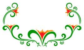 Wektorowa doodle kwiatów rama Zdjęcia Stock