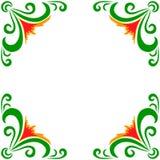 Wektorowa doodle kwiatów rama Fotografia Royalty Free