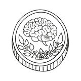Wektorowa doodle monety ilustracja Zdjęcia Stock