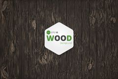 Wektorowa drewniana tekstura tło starzy panel Grunge retro rocznika drewniana tekstura, tło Obrazy Stock