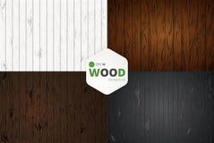 Wektorowa drewniana tekstura tło starzy panel Grunge retro rocznika drewniana tekstura, wektorowy tło Zdjęcie Royalty Free