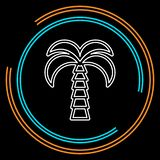Wektorowa drzewko palmowe ilustracja, plażowa wyspa royalty ilustracja