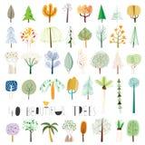 Wektorowa drzewna ilustracyjna kolekcja Zdjęcie Royalty Free