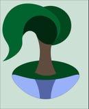 Wektorowa drzewna wierzba Fotografia Royalty Free