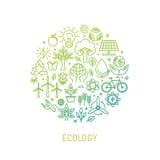 Wektorowa ekologii ilustracja z ikonami ilustracji