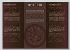 Wektorowa etniczna broszura Obrazy Royalty Free
