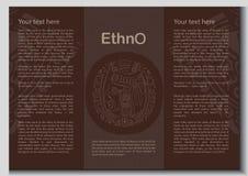 Wektorowa etniczna broszura royalty ilustracja