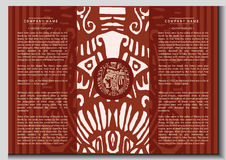 Wektorowa etniczna broszura Obraz Royalty Free