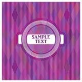 Wektorowa etykietka na purpurowym tle Zdjęcie Stock