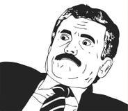 Wektorowa faceta meme twarz dla jakaś projekta Odosobniony Eps 10 Zdjęcia Stock