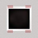 Wektorowa fotografii rama, Pusty szablon, Odizolowywająca karta ilustracji