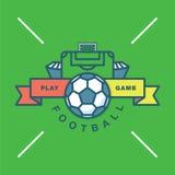 Wektorowa futbolu, stadium piłkarski ikona/ Kreskowa sztuka Zdjęcia Royalty Free