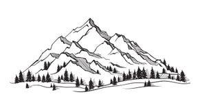 Wektorowa góra z teksturą ilustracja wektor