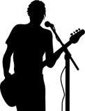 Wektorowa gitarzysta sylwetka royalty ilustracja
