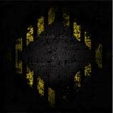 Wektorowa grungy tło tekstura stara ściana z diamentowym projektem z czarnymi i żółtymi liniami Obraz Stock