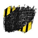 Wektorowa grungy tło tekstura z czarnymi diagonally i żółtymi liniami niebezpieczeństwa ostrzegać Fotografia Royalty Free