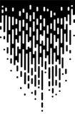 Wektorowa Halftone przemiany abstrakta tapeta Czarny I Biały Nieregularny Zaokrąglony linii tło dla nowożytnej płaskiej sieci ilustracja wektor