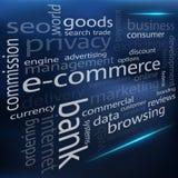 Wektorowa handel elektroniczny chmura ilustracja wektor