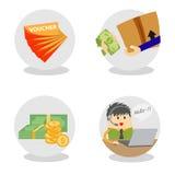 Wektorowa handel elektroniczny ikona fotografia stock