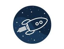 Wektorowa ikona astronautyczny bujak Fotografia Stock
