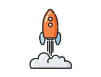 Wektorowa ikona astronautyczny bujak Zdjęcia Stock