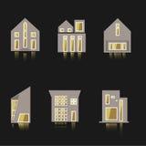 Wektorowa ikona domowy budynek w płaskim stylu Fotografia Royalty Free