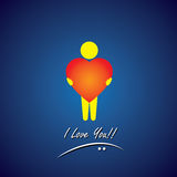 Wektorowa ikona miłość, współczucie, empatia & opieka, Zdjęcie Stock