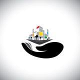 Wektorowa ikona - pojęcie kupienie dom ilustracja wektor
