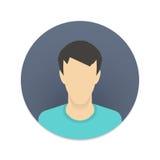 Wektorowa ikona użytkownika avatar dla strony internetowej lub wiszącej ozdoby Obrazy Stock