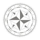Wektorowa ikona z kompasem wzrastał Fotografia Stock