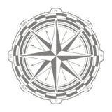 Wektorowa ikona z kompasem wzrastał Obraz Royalty Free