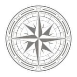 Wektorowa ikona z kompasem wzrastał Obrazy Stock