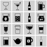 Wektorowa ikony restauracja napoju czarny symbol Obrazy Stock
