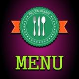 Wektorowa ilustraci karta Restauracyjna menu etykietka ilustracji