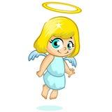 Wektorowa ilustracja śliczny Bożenarodzeniowy anioła charakter Fotografia Stock