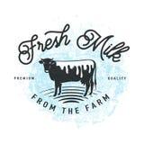 Wektorowa ilustracja świeży mleko od rolnego tła ilustracja wektor