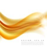 Wektorowa ilustracja abstrakcjonistyczny pomarańczowy falisty tło, gładzi płatowatą pomarańcze fala, linia z lekkim skutkiem Fotografia Stock