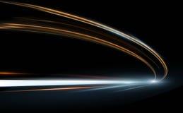 Wektorowa ilustracja abstrakt, nauka, futurystycznej, energetycznej technologii pojęcie, Obraz cyfrowy strzała znak, linie z ilustracja wektor