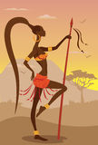 Wektorowa ilustracja Afrykańska kobieta ilustracji
