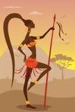 Wektorowa ilustracja Afrykańska kobieta Fotografia Stock